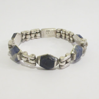 Sterling Silver and Lapis Lazuli Bracelet