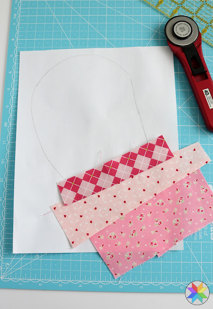 Scrap quilt idea - string pieced quilt block tutorial by A Bright Corner