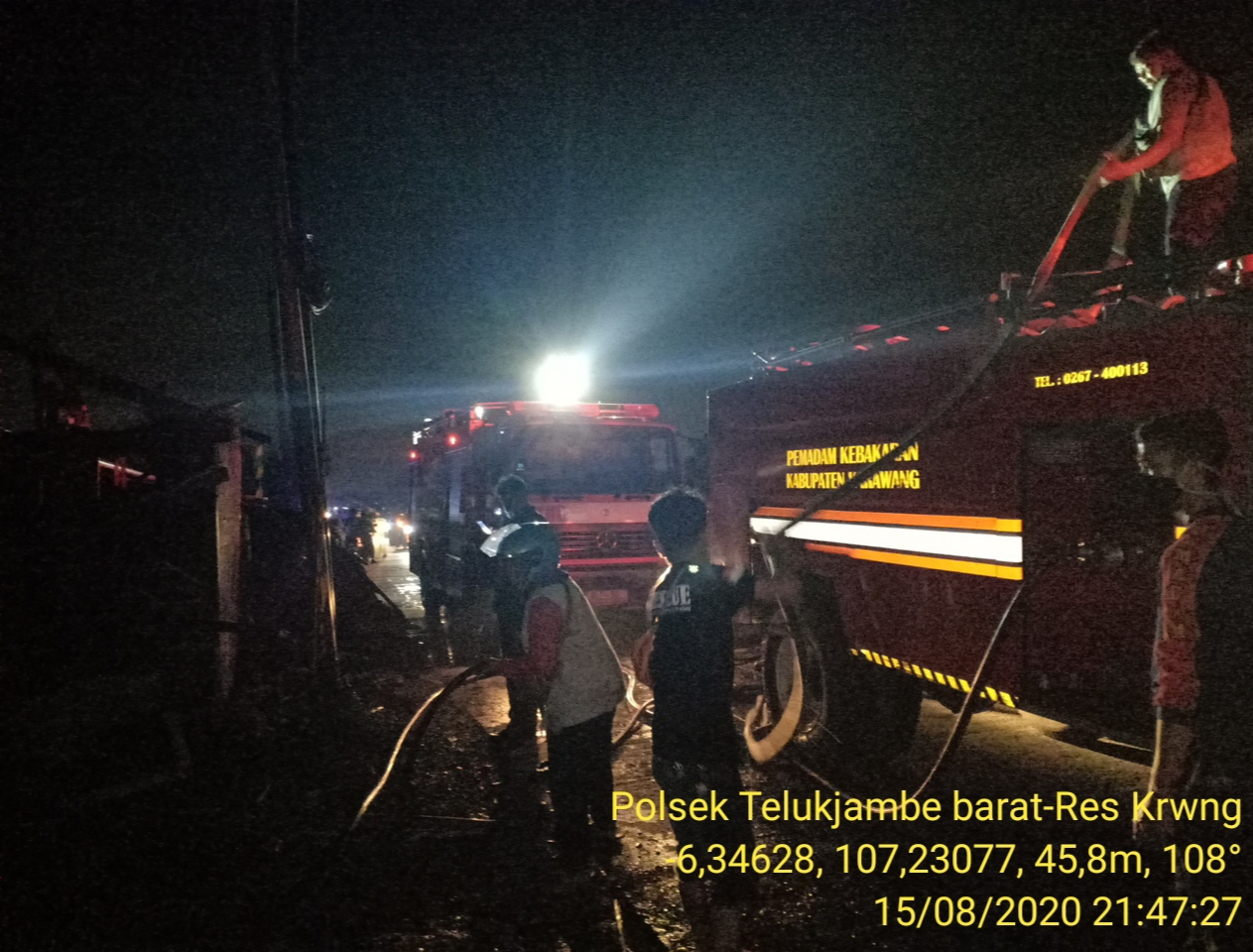Rumah Cafe Milik Mista Ludes Terbakar Di Kobak Biru