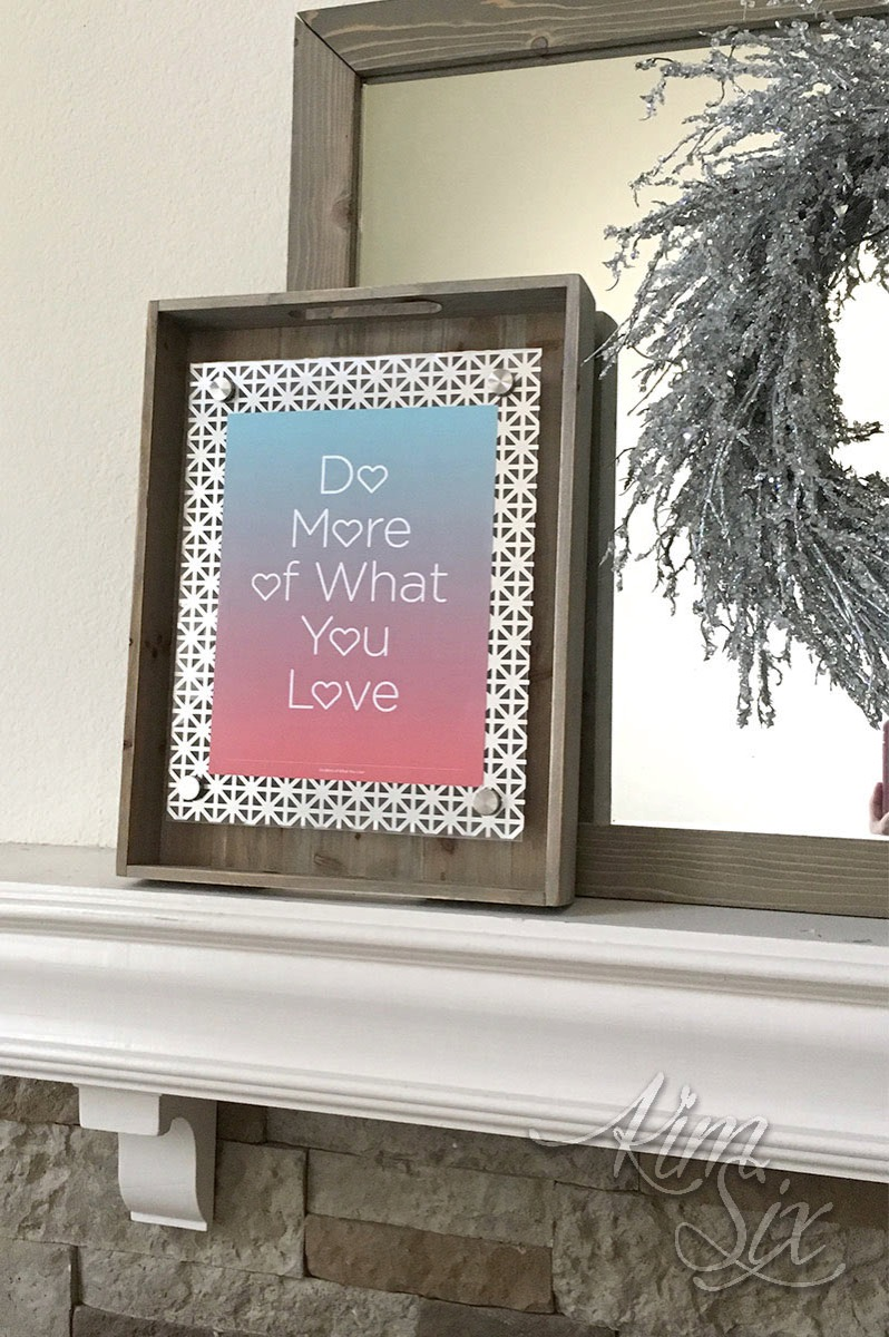 DIY floating frame with metal accents