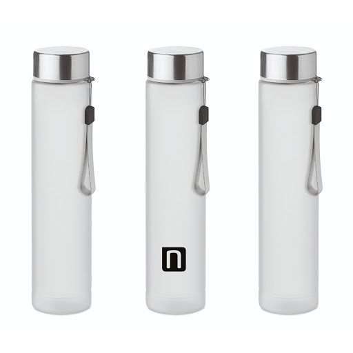 Slim Travel bottle in tritan 300 ml with stainless steel lid