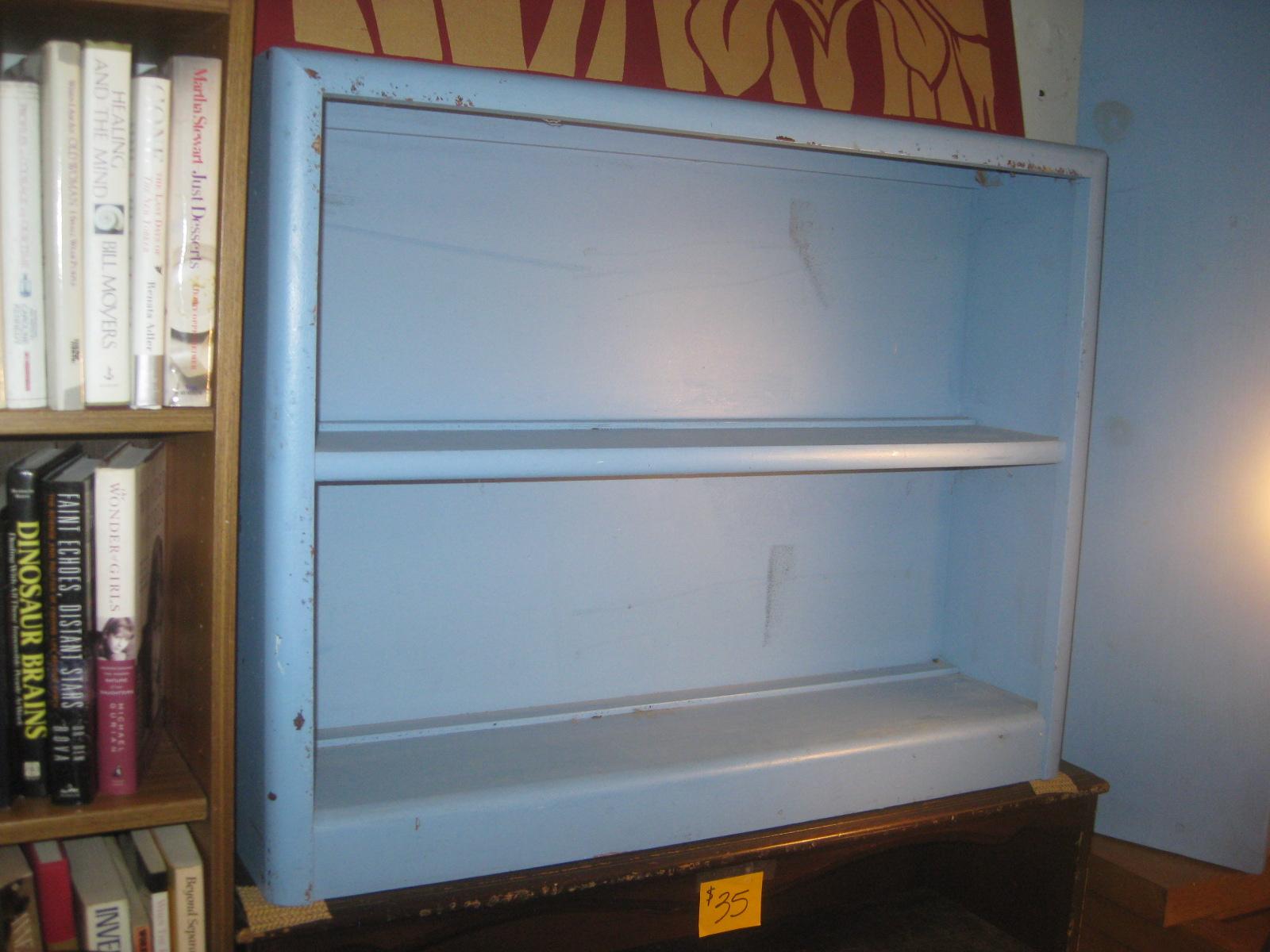 Uhuru Furniture Collectibles Sold Blue Short Wooden