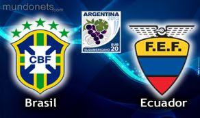 Ecuador Brasil online vivo sub20 Horarios 10 enero