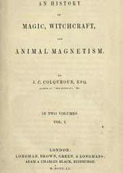 Cover of John Campbell Colquhoun's Book An History of Magic Witchcraft and Animal Magnetism