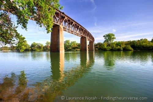 Rail bridge Redding California