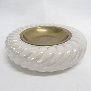 Tommaso Barbi Ceramic Pocket Emptier White Ashtray