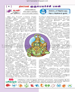 Tamil Guru Peyarchi Palan