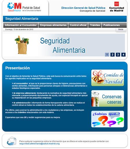 web de seguridad alimentaria