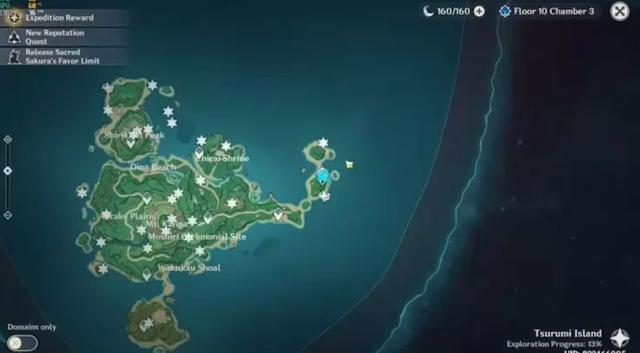 Location of all Electroculus on Tsurumi Island.