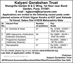 Kalyani Gorakshan Trust Jobs 2016