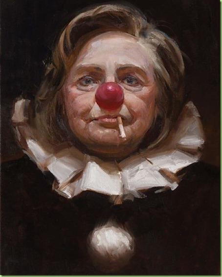 hillary clown