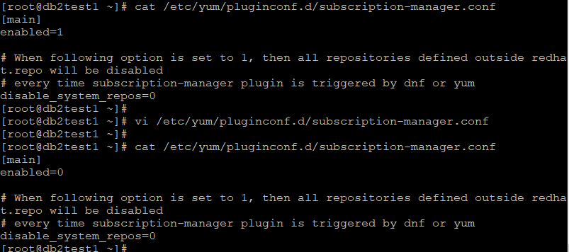 Update /etc/yum/pluginconf.d/subscription-manager.conf file