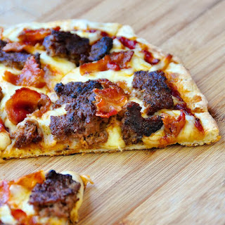 Grilled Bacon Cheeseburger Pizza.