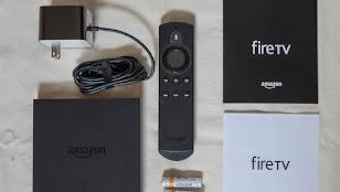 Fire TVの本体と付属品