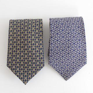 Hermès Blue Tie Pair