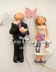Свадебные фигурки из марципана