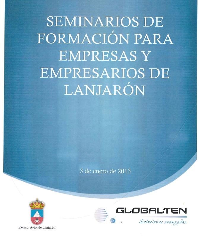SEMINARIOS DE FORMACIÓN PARA EMPRESAS, PYMES Y AUTÓNOMOS DE LANJARÓN