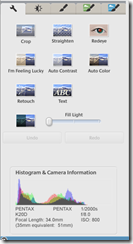 Some of the edit tools available in picasa