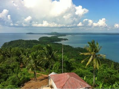 view Tanjung Kunyit dari atas menara suar