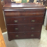 490j - Victorian mahogany chest £195.00