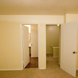 Master bedroom.  Bathroom door on the left.  Upstairs landing on the right.
