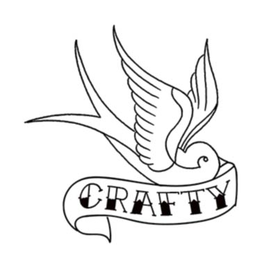 Crafty bird embroidery pattern