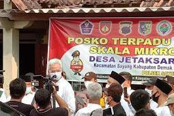 30 Orang di Nyatakan Positif Covid19, Gubenur Jawa Tengah Ganjar Pranowo Turun Langsung ke Plosok Desa