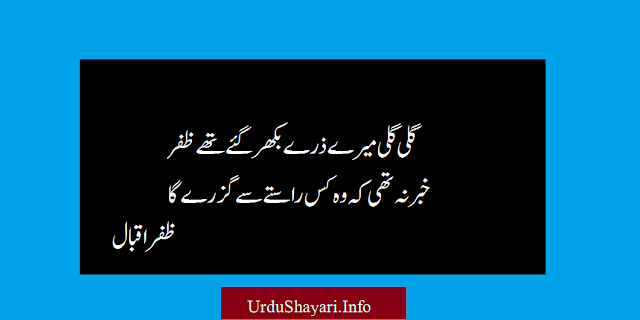 Galli Galli top two line shayari by great poets with image