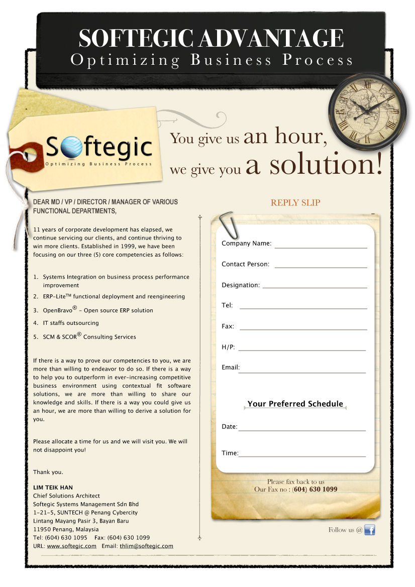 Softegic systems management sdn bhd you give us an hour for E bathroom solution sdn bhd