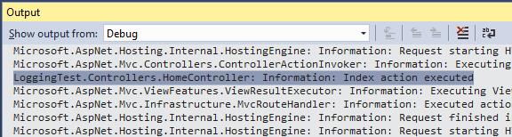 Logging en la ventana de salida de Visual Studio