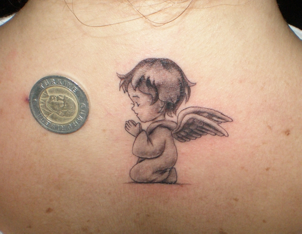 baby angel tattoo design