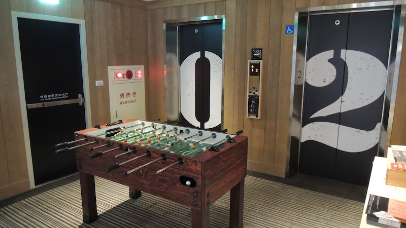 Check Café 雀客咖啡二樓電梯.JPG