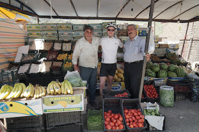 Gemüsehändler in Maku
