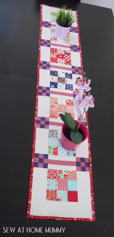Bonnie and Camille Table Runner Vintage Picnic Marmalade Fabric by Sew at Home Mummy
