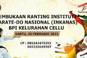 Baruga Pendidikan Indonesia Buka Ranting Baru Karate-do INKANAS Bone di Kelurahan Cellu