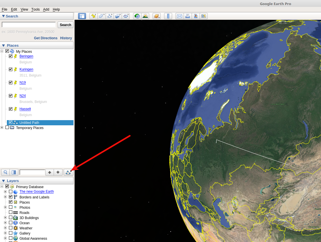 Fly over' feature on old Google Earth - does this still exist