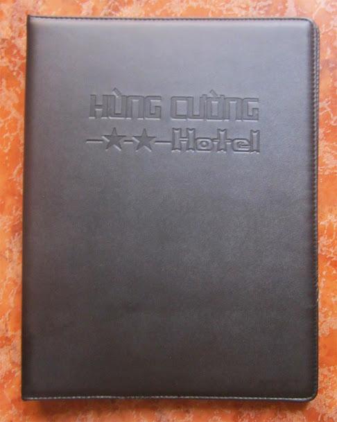 Chuyên in menu, cuốn menu bằng da, bìa menu da, bile tính tiền, bìa sơ mi đựng hồ sơ