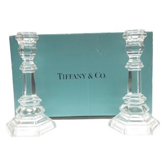 Tiffany & Co. Glass Candleholders