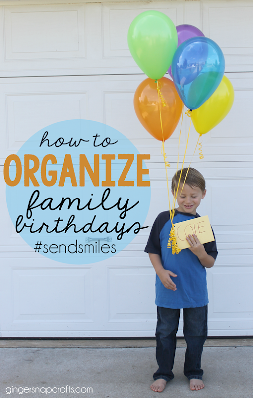 how to organize family birthdays at GingerSnapCrafts.com  #sendsmiles #ad #collectivebias