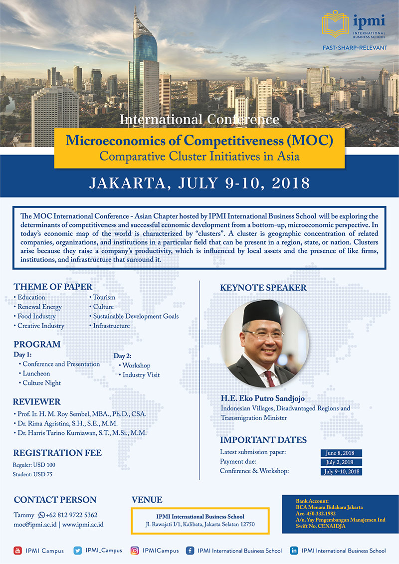 "IPMI - Microeconomics of Competitiveness ""Comparative Cluster Initiatives in Asia"" @ IPMI - International Business School 
