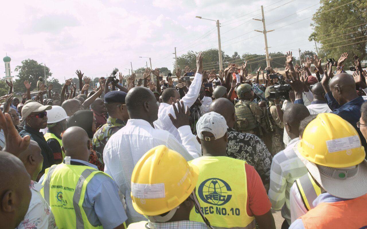 President Uhuru Kenyatta in Lamu. PHOTO | PSCU