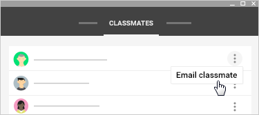 Email classmate