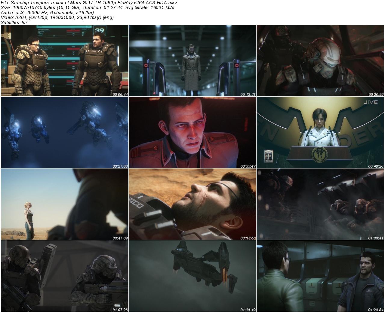 Starship Troopers Traitor of Mars 2017 - 1080p 720p 480p - Türkçe Dublaj Tek Link indir