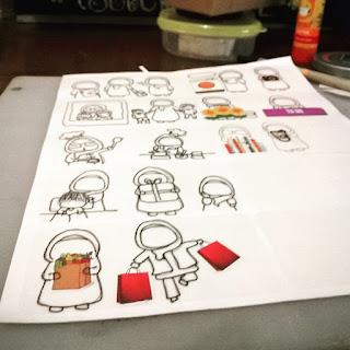 cara membuat handrawn sticker