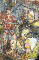 'Wer will noch ein bißchen Sonnenschein', Öl auf Leinwand, 60x90, 1996