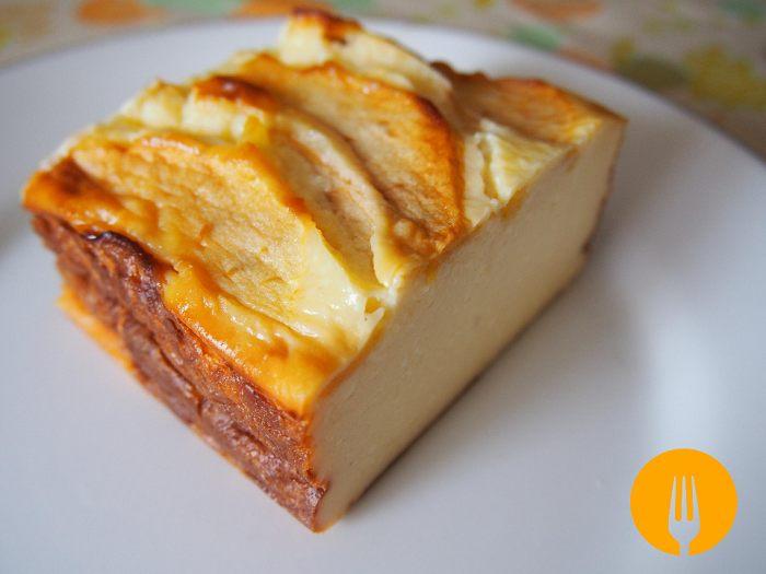 Tarta de queso con manzana f cil y sencilla recetas de - Postres con queso de untar ...