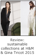 sustainable clothing collections at H&M and Gina Tricot 2015