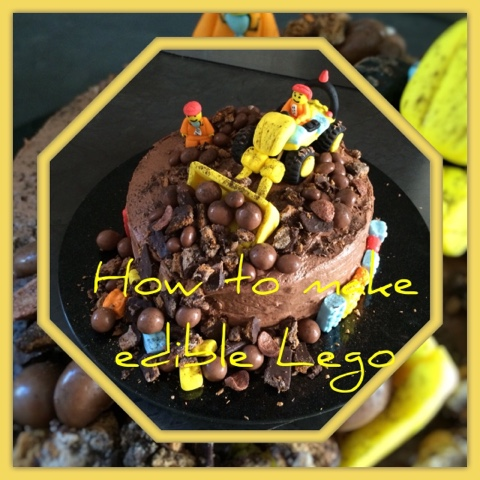 How To Make An Lego Digger Cake From Edible Blocks