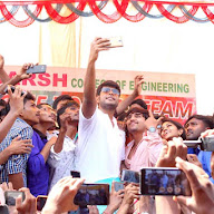 Run Movie Team At Adarsh College kakinada Pics
