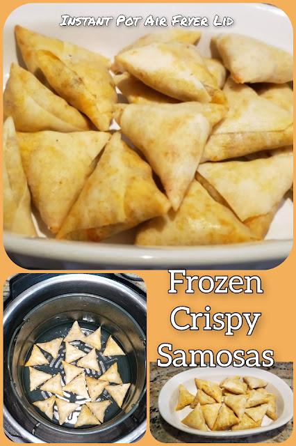 Crispy Samosas in Instant Pot Air Fryer Lid